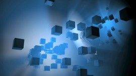 Cubes Abstraction Wallpaper Background