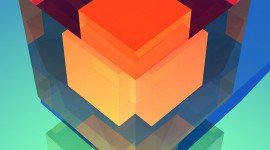 Cubes Abstraction Wallpaper For IPhone#1