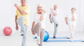 Fitness For The Elderly Wallpaper