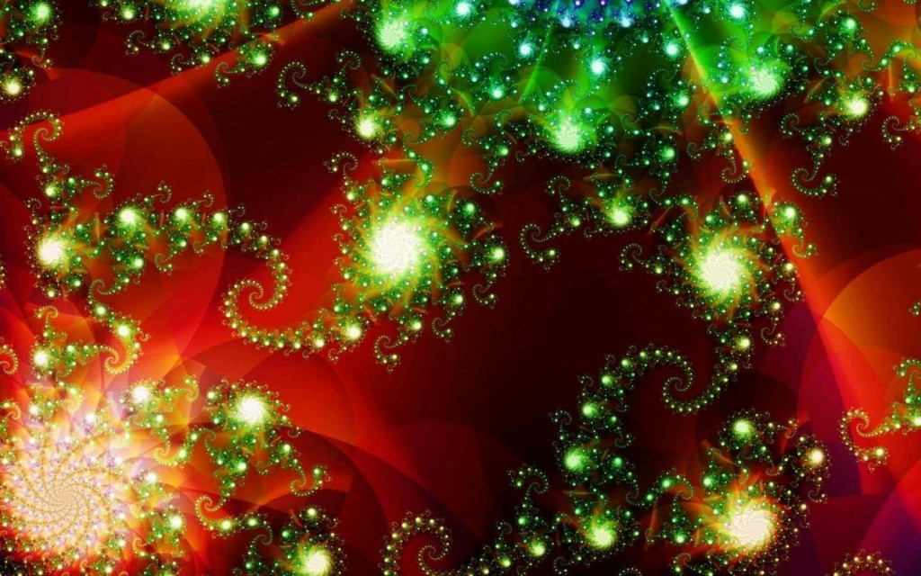 Fractal New Year wallpapers HD