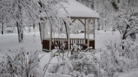 Gazebo Snow Photo