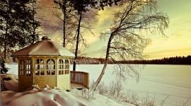 Gazebo Snow Photo Download