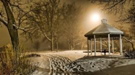 Gazebo Snow Wallpaper 1080p