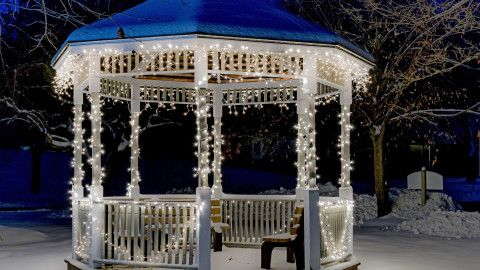 Gazebo Snow wallpapers high quality