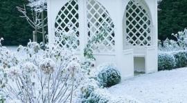 Gazebo Snow Wallpaper For IPhone