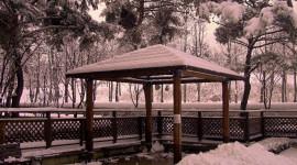 Gazebo Snow Wallpaper Full HD