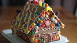 Gingerbread House Desktop Wallpaper HD