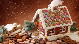 Gingerbread House Wallpaper For PC