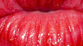 Girl Lips Lipstick Wallpaper For IPhone#1