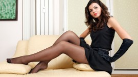 Girl Stockings Aircraft Picture