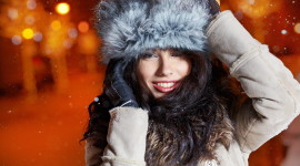 Girl Winter Hat Aircraft Picture