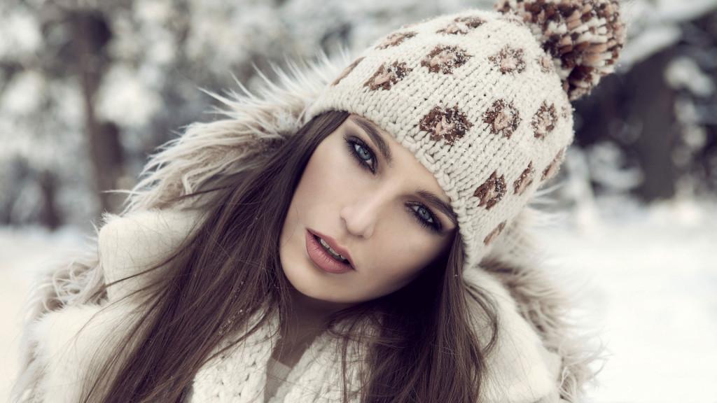 Girl Winter Hat wallpapers HD
