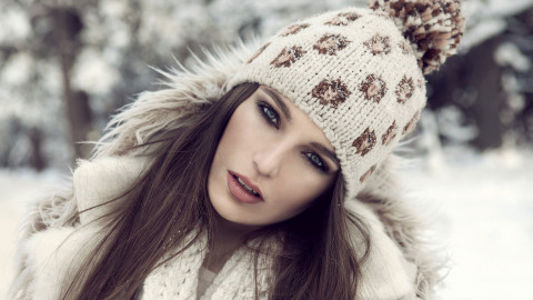 Girl Winter Hat wallpapers high quality