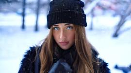 Girl Winter Hat Desktop Wallpaper HD