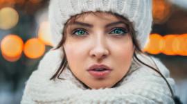 Girl Winter Hat Photo