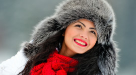 Girl Winter Hat Photo Free