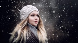 Girl Winter Hat Picture Download