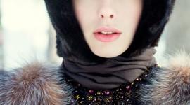 Girl Winter Hat Wallpaper For IPhone
