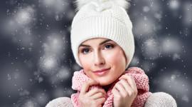 Girl Winter Hat Wallpaper For Mobile