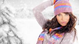 Girl Winter Hat Wallpaper For PC