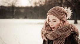 Girl Winter Hat Wallpaper Free