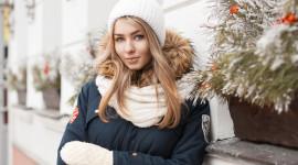 Girl Winter Hat Wallpaper Full HD