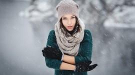 Girl Winter Hat Wallpaper HQ