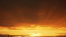 Golden Sky Wallpaper For Desktop