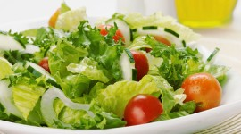 Green Salad Wallpaper Download Free