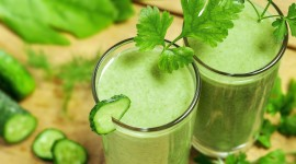 Green Smoothie Wallpaper Full HD