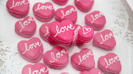 Heart Of Macaron Wallpaper Free