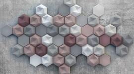 Multicolored Hexagon Desktop Wallpaper