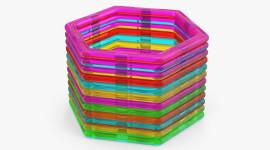 Multicolored Hexagon Photo#1