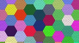 Multicolored Hexagon Picture Download