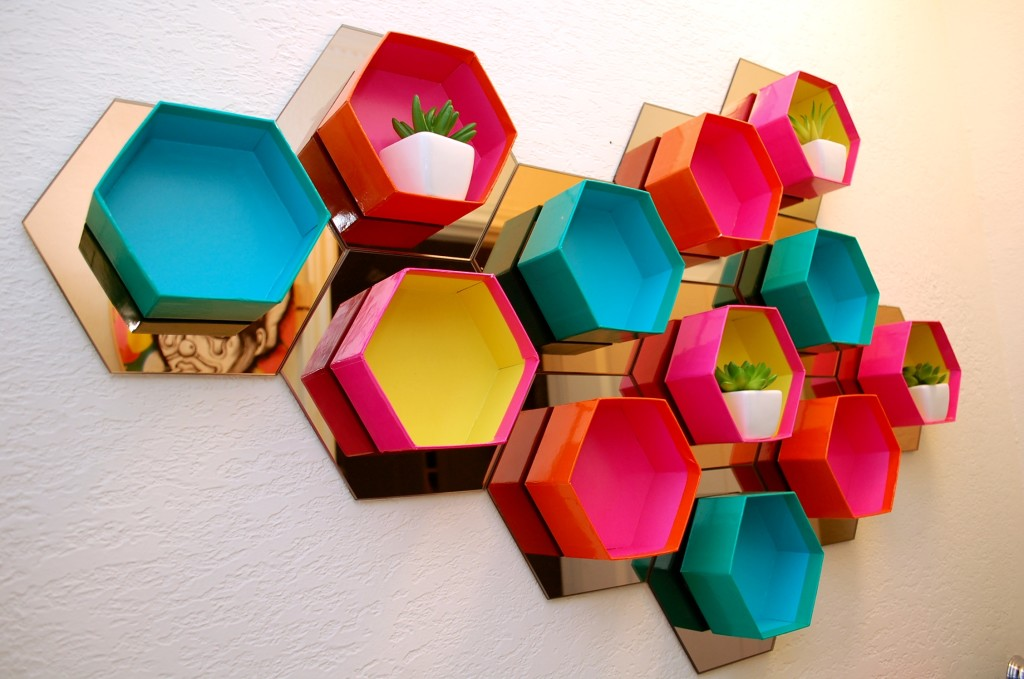 Multicolored Hexagon wallpapers HD