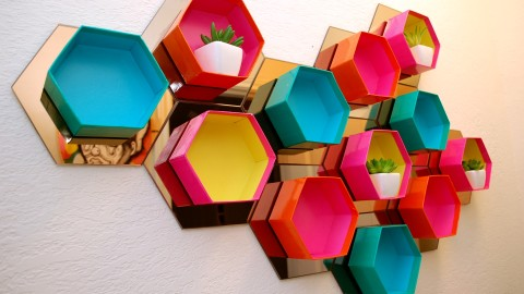 Multicolored Hexagon wallpapers high quality