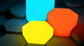 Multicolored Hexagon Wallpaper For Android