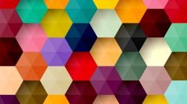 Multicolored Hexagon Wallpaper HQ