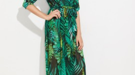 Palm Print Dress High Quality Wallpaper