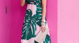 Palm Print Dress Wallpaper For IPhone