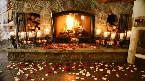Romantic Fireplace wallpapers high quality