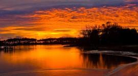 Winter Sunset Photo Free