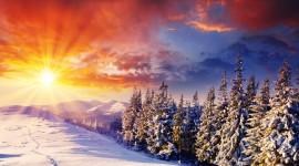 Winter Sunset Wallpaper 1080p