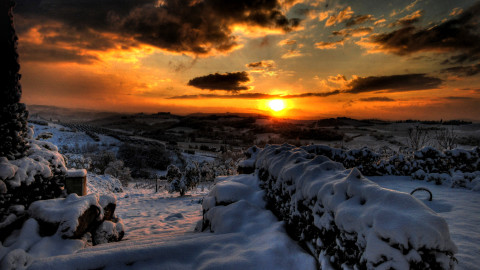 Winter Sunset wallpapers high quality