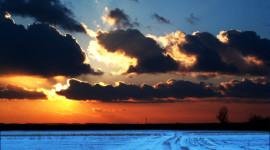 Winter Sunset Wallpaper For Desktop
