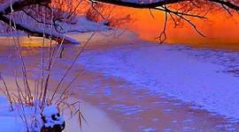 Winter Sunset Wallpaper For Mobile