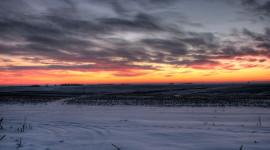 Winter Sunset Wallpaper For PC