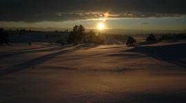 Winter Sunset Wallpaper Free