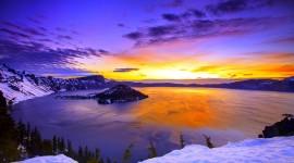 Winter Sunset Wallpaper Full HD