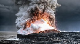 4K Eruption Of Volcano Photo